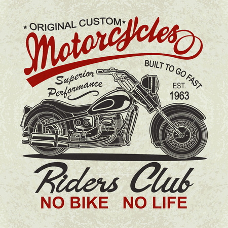 Illustration for Vintage  motorcycle  poster , t-shirt  print. - Royalty Free Image