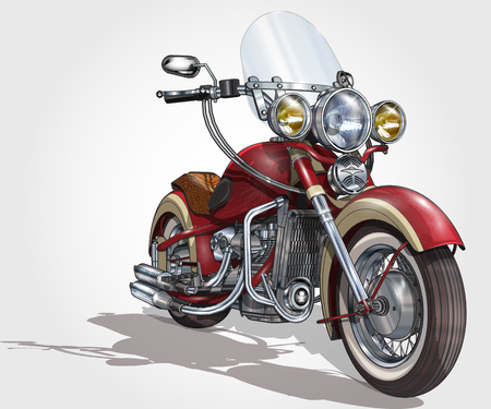 Illustration for Classic vintage motorcycle. - Royalty Free Image