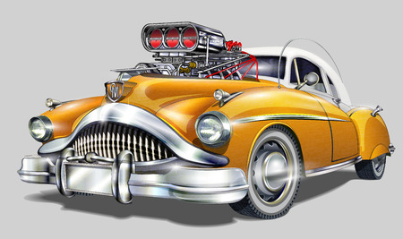 Illustration pour Vintage Hot Rod. - image libre de droit