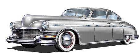 Illustration pour Retro car isolated on white background. - image libre de droit