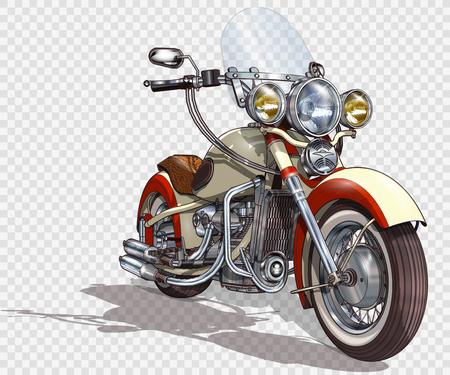 Illustration pour Classic vintage motorcycle. - image libre de droit