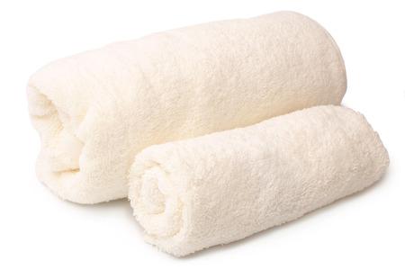 Foto de Bath towels on white background - Imagen libre de derechos