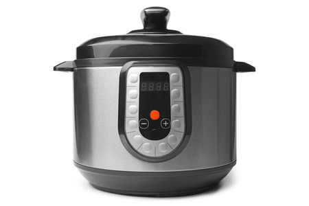 Foto de Automatic multicooker and pressure cooker on white background - Imagen libre de derechos