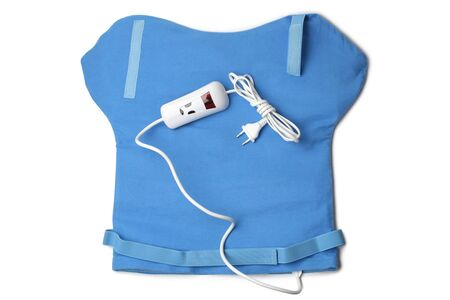 Photo for Electric heating pad for neck and shoulders on white background - Royalty Free Image