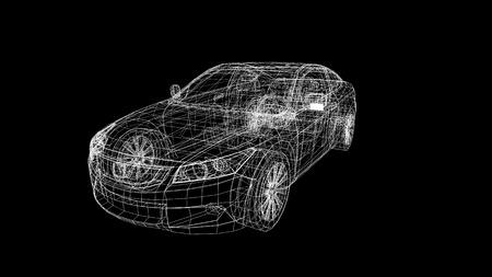 Photo pour car model body structure, wire model - image libre de droit