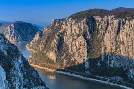 Landscape in the Danube Gorges. Cazanele Mari, Romania