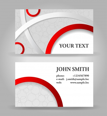 Red and gray modern business card template