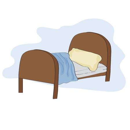Ilustración de kid bed, illustration in vector format - Imagen libre de derechos