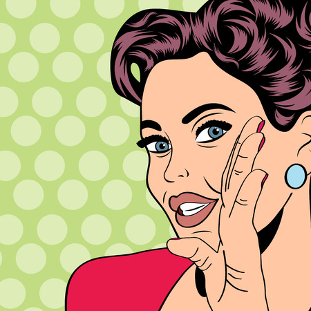 Photo for pop art retro woman in comics style, vector illustratation - Royalty Free Image