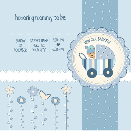 Foto de baby boy shower card - Imagen libre de derechos