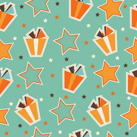 Illustration for Pattern with gift boxes - Royalty Free Image