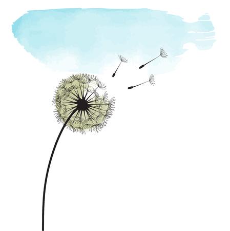 Illustration pour Stylized dandelion. - image libre de droit