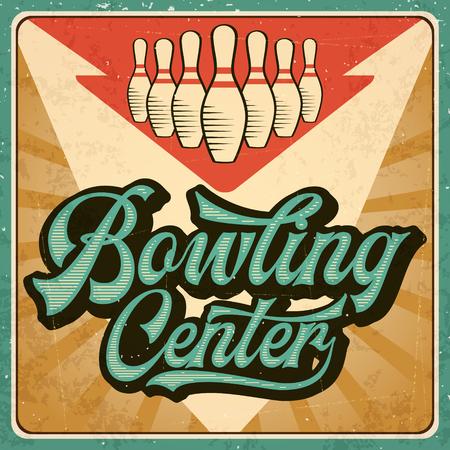 Illustration pour Retro advertising bowling poster. Vintage poster. Vector eps10 - image libre de droit