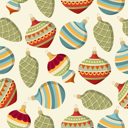 Illustration for seamless pattern with Christmas balls. Christmas background. Christmas wrapping. Paper. Vector - Royalty Free Image