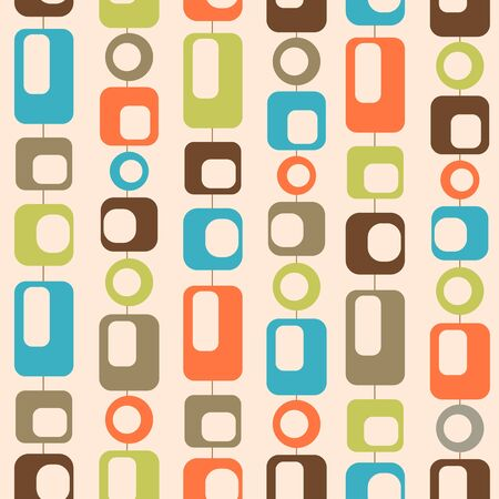 Illustration for mid century style seamless pattern - Royalty Free Image