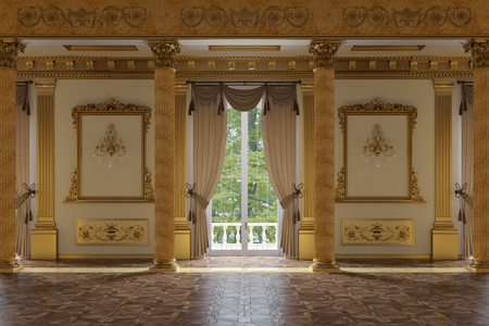 Photo pour The ballroom and restaurant in classic style - image libre de droit
