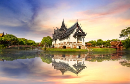 Photo for Sanphet Prasat Palace, Ancient City, Bangkok, Thailand - Royalty Free Image