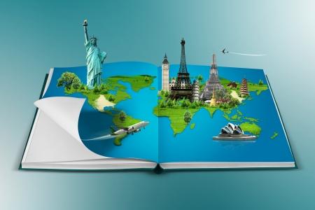 Photo pour Book of travel - image libre de droit