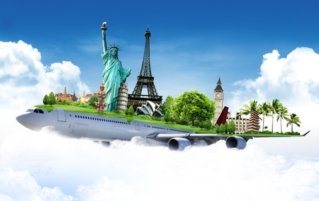 Foto für travel the world by airplane, concept - Lizenzfreies Bild