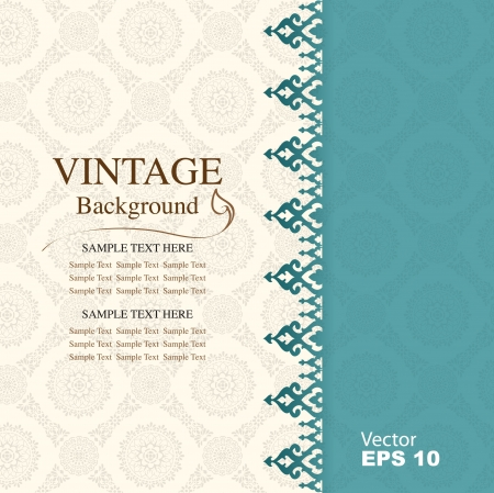 Foto per Vintage background, antique greeting card - Immagine Royalty Free