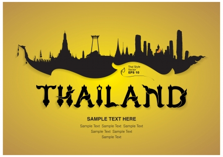 Photo for thailand travel design, vector illustration - Royalty Free Image