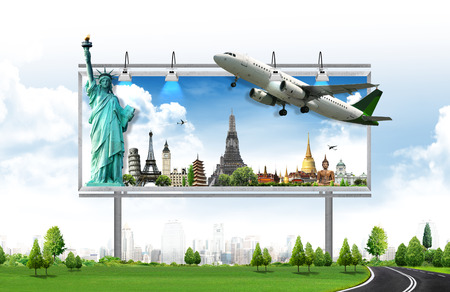 Photo pour billboard, travel concept - image libre de droit