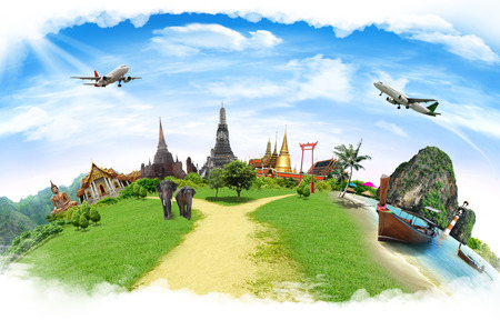 Photo pour Travel concept, thailand - image libre de droit