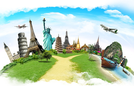 Foto per Travel the world monument concept - Immagine Royalty Free