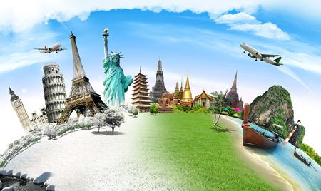 Foto de Travel the world monument concept - Imagen libre de derechos