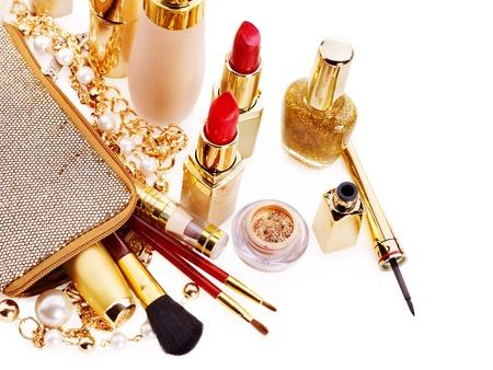 Foto de Decorative cosmetics for makeup. Isolated. - Imagen libre de derechos