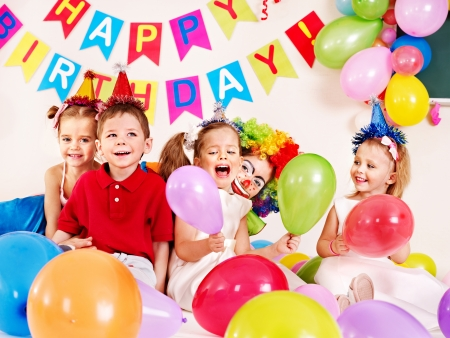 Photo for Child happy birthday party   - Royalty Free Image