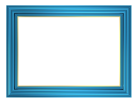 Photo for Blue frame isolated on white background. Computer generated 3D photo rendering.  - Royalty Free Image
