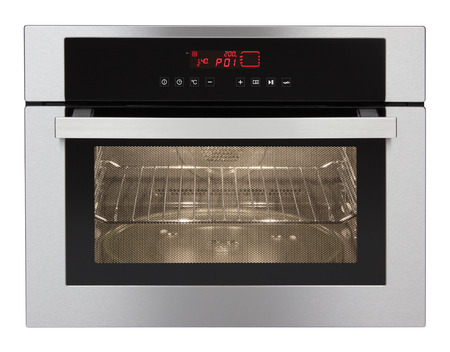 Photo pour Microwave oven isolated on white background  - image libre de droit