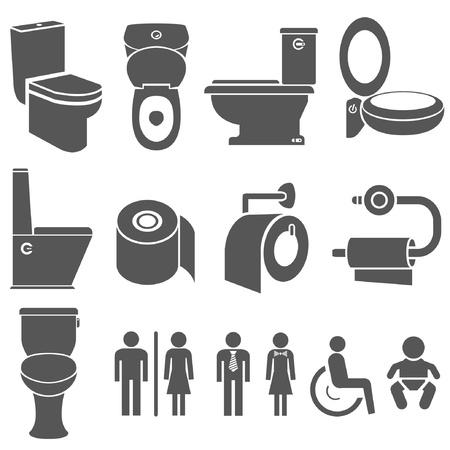 toilet and wc symbol set