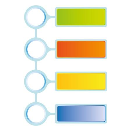 Illustration pour four steps of business diagram - image libre de droit