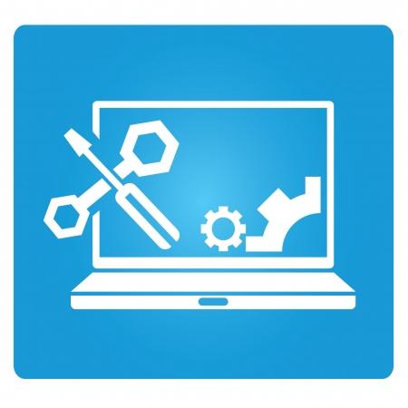 Illustration pour computer repair service, technical support - image libre de droit