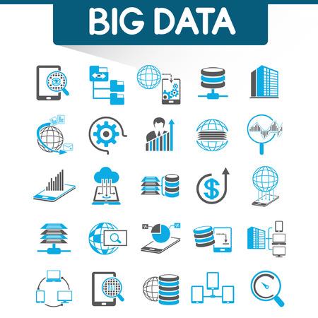 Illustration pour web analytics icons, big data icons - image libre de droit