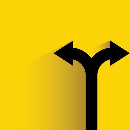 Illustration pour decision making, direction - image libre de droit