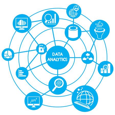 Illustration pour big data analytics concept - image libre de droit