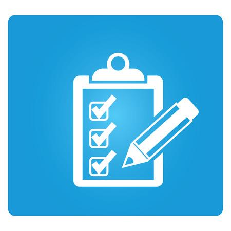 Illustration pour checklist - image libre de droit