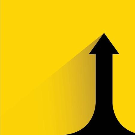 Ilustración de growth progress arrow chart - Imagen libre de derechos