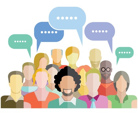 Illustration for people group social network - Royalty Free Image