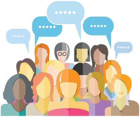 Illustration pour women group people group social network - image libre de droit