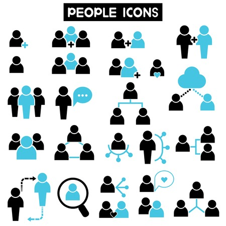 Illustration for people icons - Royalty Free Image