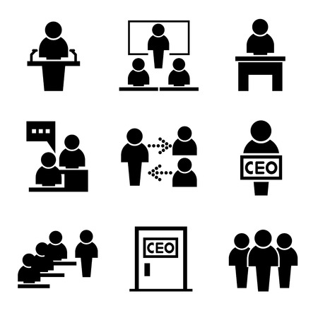 Illustrazione per business management icons people icons - Immagini Royalty Free