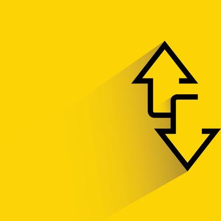 Illustration pour arrows up and down ways - image libre de droit