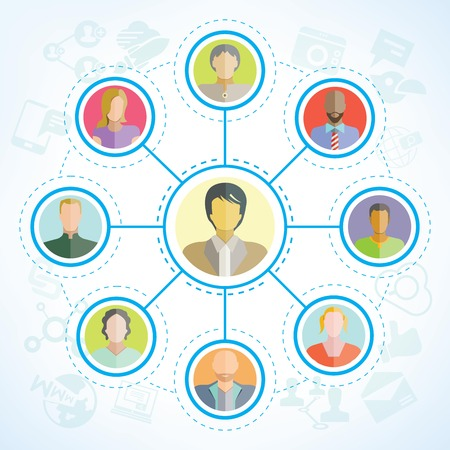 Ilustración de people network social network - Imagen libre de derechos
