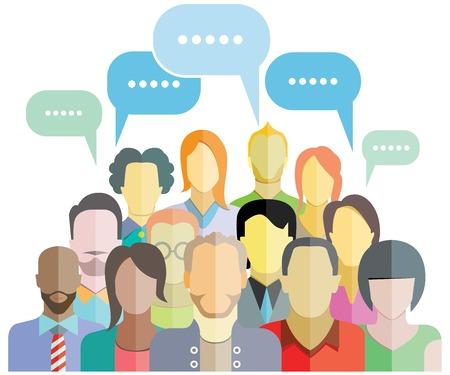 Illustration pour people group community social network - image libre de droit
