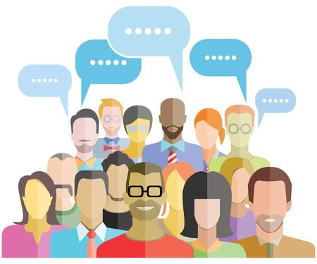 Illustration for people group community social network - Royalty Free Image