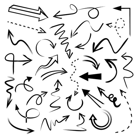 Ilustración de doodle arrow curve arrows - Imagen libre de derechos